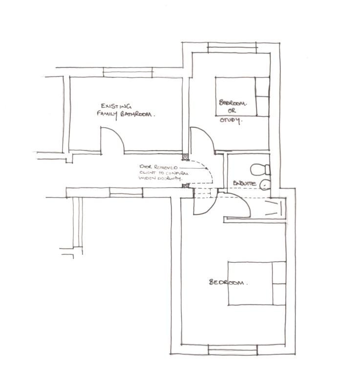 1140 Alternative Rear Bedroom